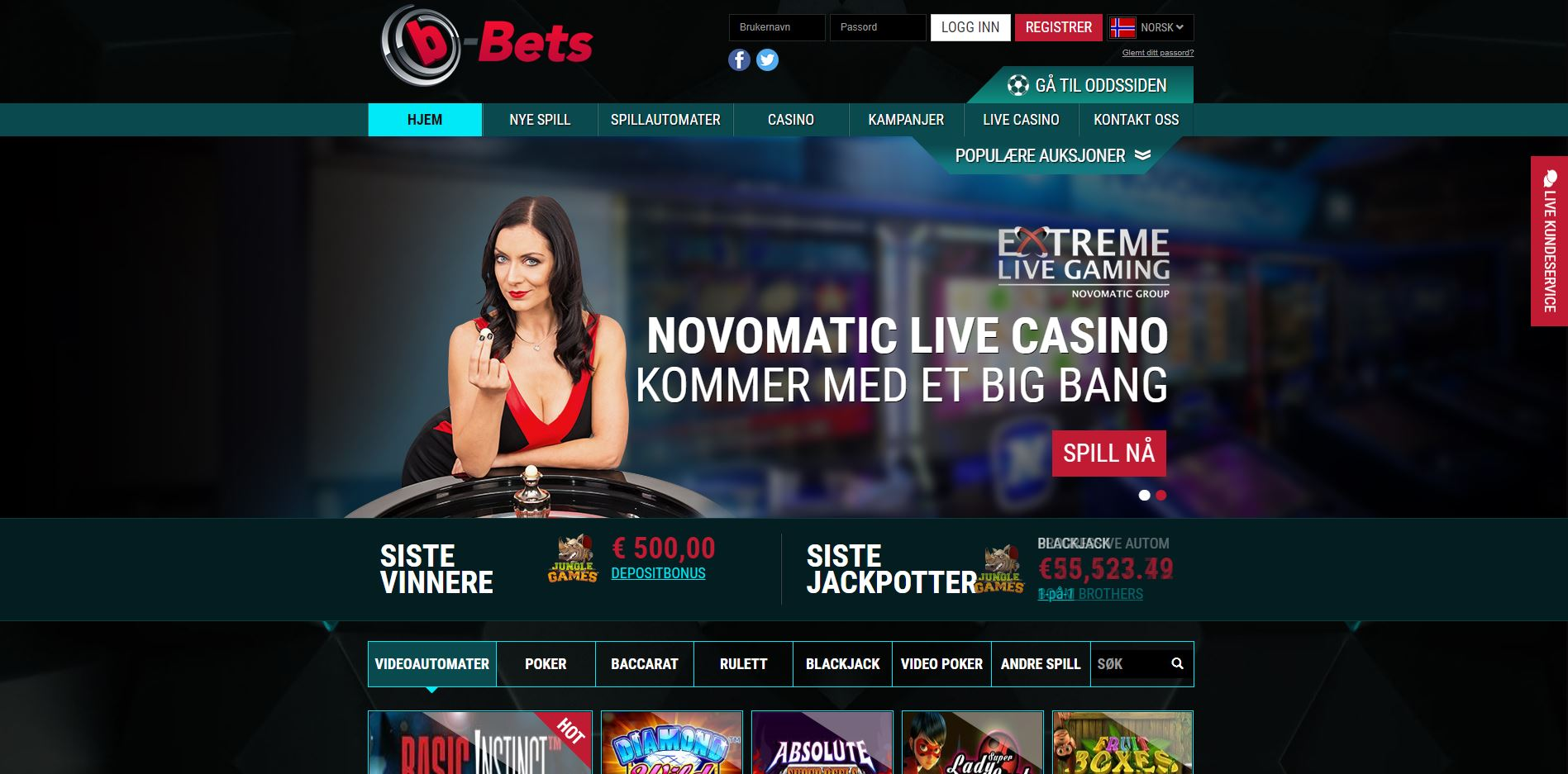 b-bets screenshot